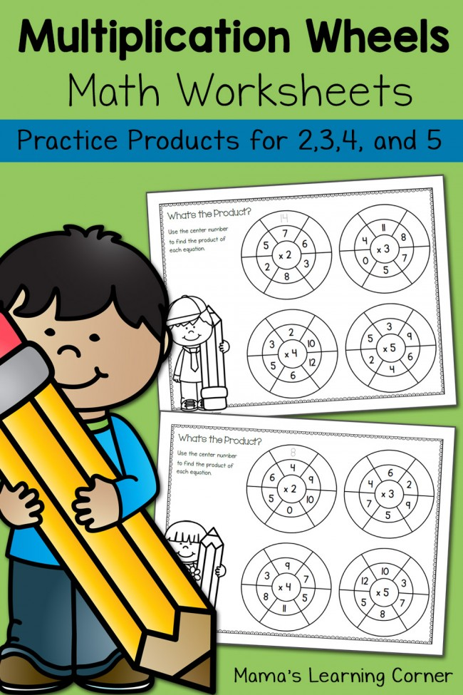 Simple Multiplication Wheels: Math Worksheets