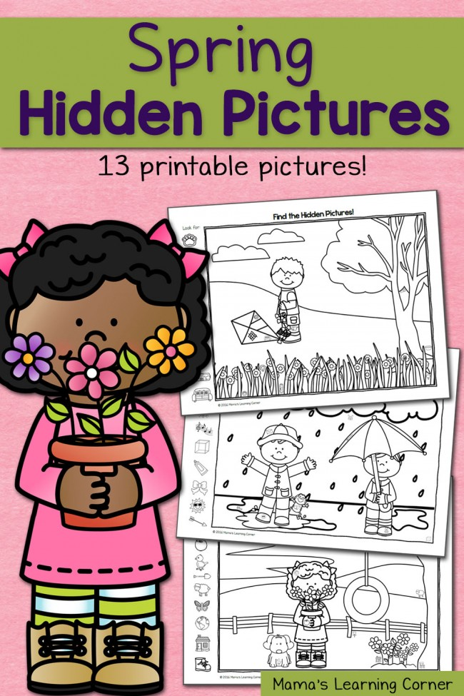 Spring Hidden Picture - download a freebie from this hidden picture worksheet packet!