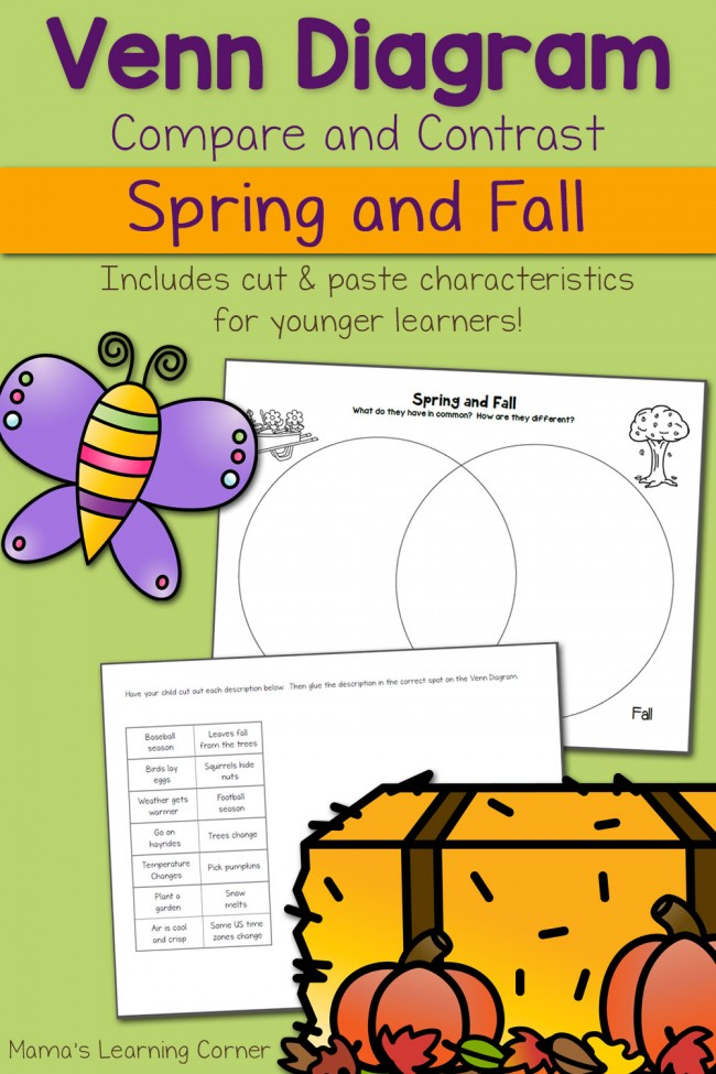 Spring and Fall Venn Diagram Worksheet