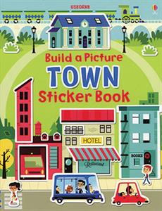 Usborne Build a Picture Town Sticker Book