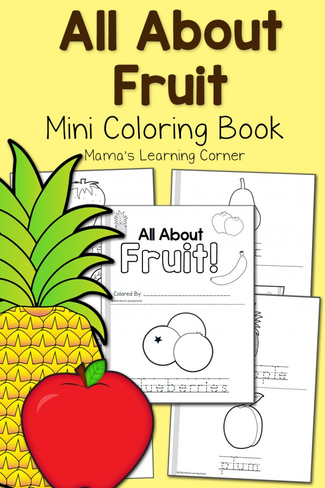 Fruit Coloring Pages Mamas Learning Cornerrhmamaslearningcorner: Yellow Fruit Coloring Pages At Baymontmadison.com