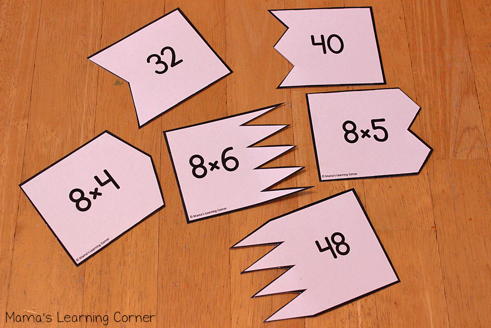 Multiplication Puzzle Cards