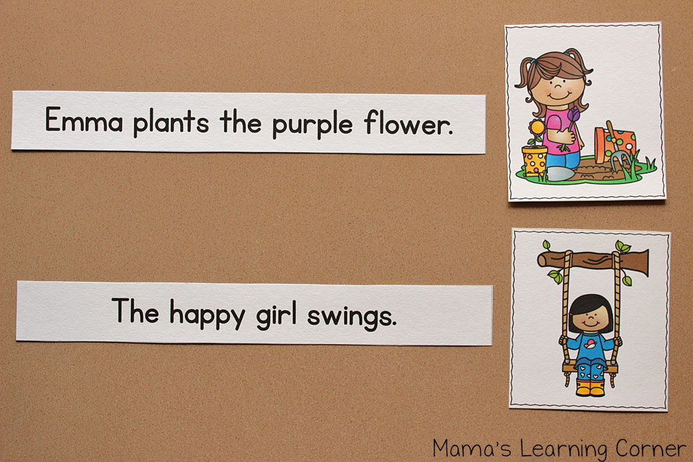 Spring Sentence Picture Match