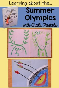 Studying the Summer Olympics with Chalk Pastels