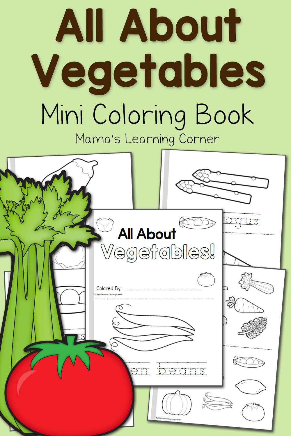 Vegetable Coloring Pages Mamas Learning Corner