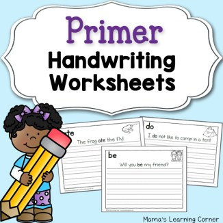 Handwriting Worksheets for Kids: Primer Sentences