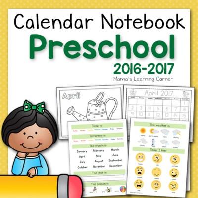 Preschool Calendar Notebook 2016-2017