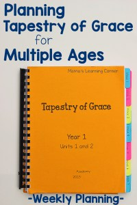 Planning Tapestry of Grace Each Week When You Homeschool Multiple Ages