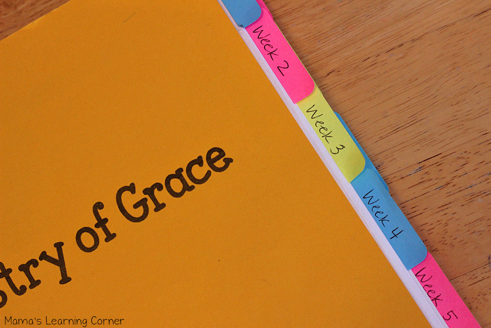 Tapestry of Grace Weekly Labels