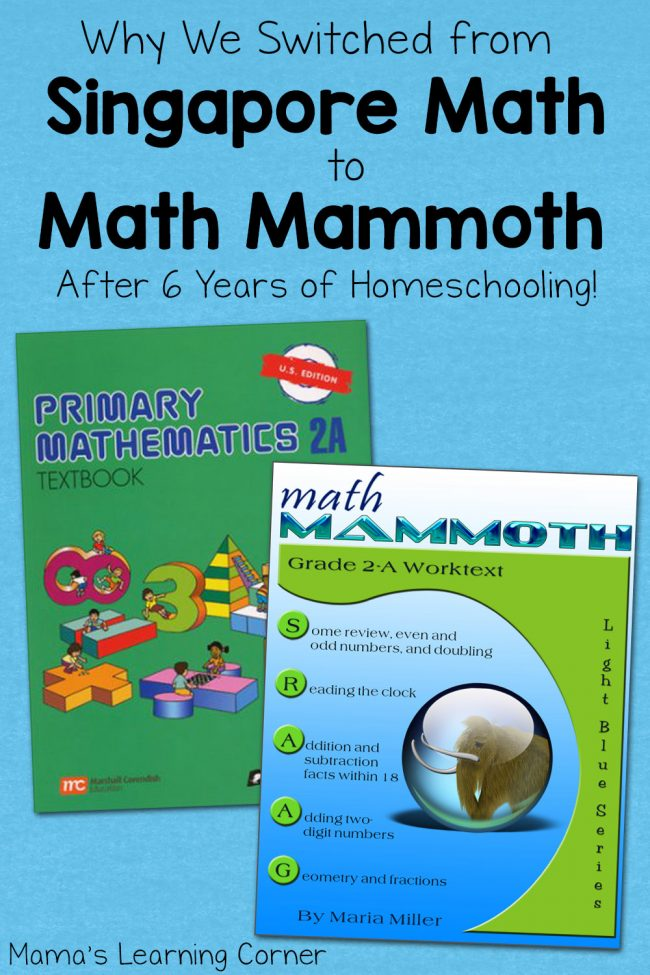 Why We Switched from Singapore Math to Math Mammoth after 6 Years of Homeschooling