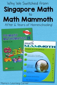Why We Switched from Singapore Math to Math Mammoth This Year