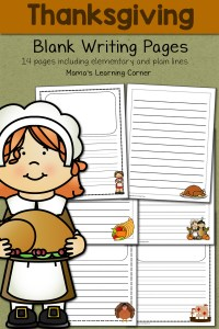 Blank Thanksgiving Writing Pages