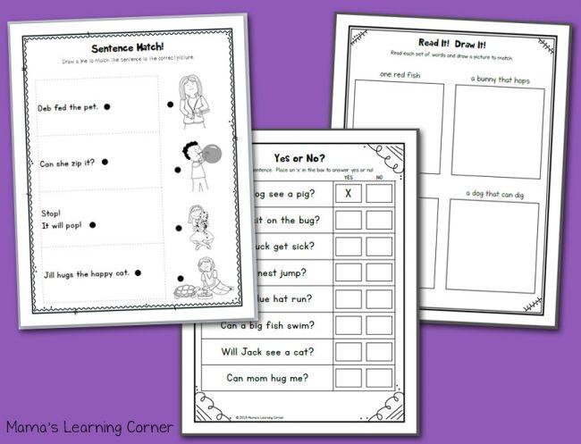 Kindergarten Phonics CVC Worksheets