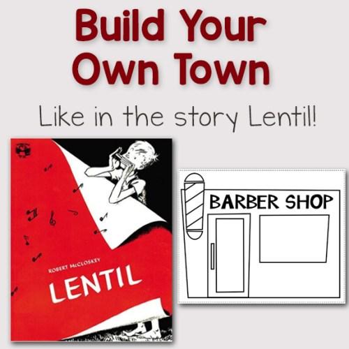 Lentil: Build Your Own Town Printables