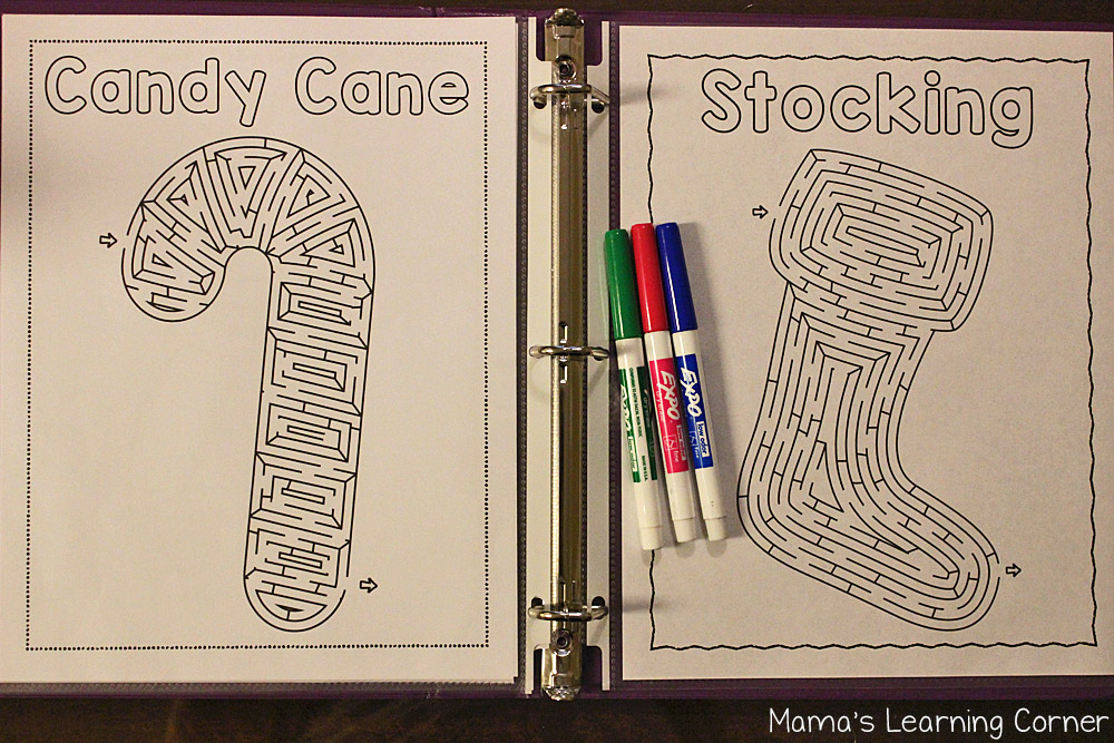 Christmas Fun Pages - Mazes