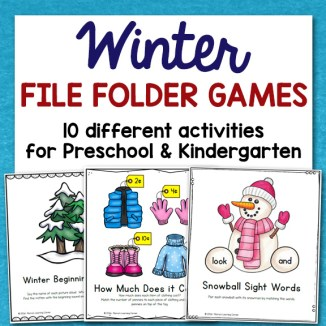 Winter File Folder Games