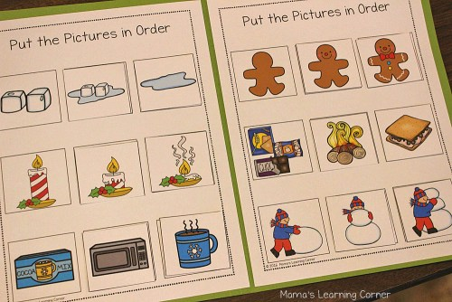 Winter File Folder Games Sequencing Pictures
