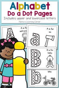 Alphabet Do a Dot Pages – Upper and Lowercase!