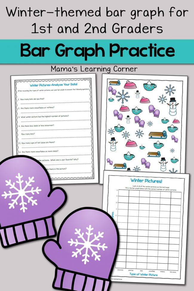Winter Picture Bar Graph Worksheets