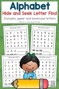 ABC Hide and Seek Letter Find for Preschoolers