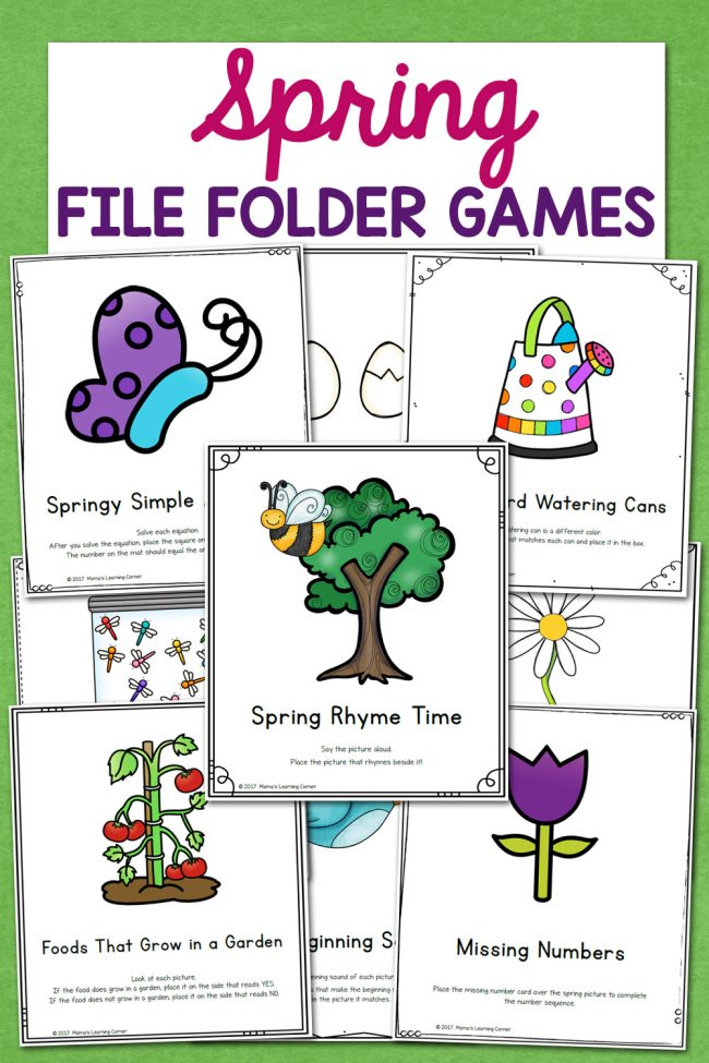Spring File Folder Games 10 Different Activities For Preschool And