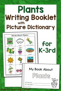 Plant Writing Booklet with Picture Dictionary