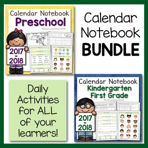 Calendar Notebook 2017 2018 Bundle