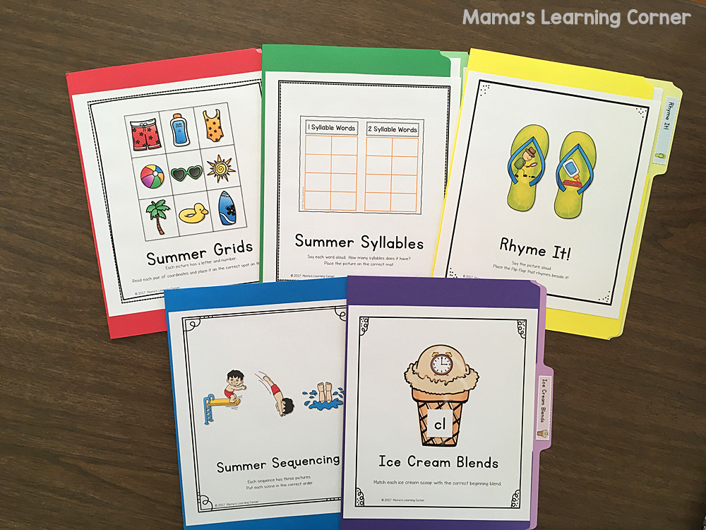 Summer File Folder Games I