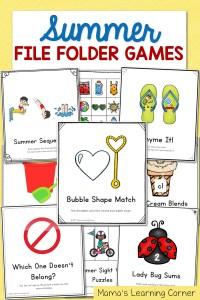 Summer File Folder Games – 10 Hands-On Activities for Preschool and Kindergarten!