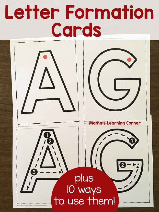 Letter Formation Cards