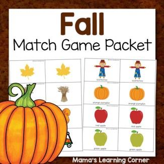 Fall Match Game