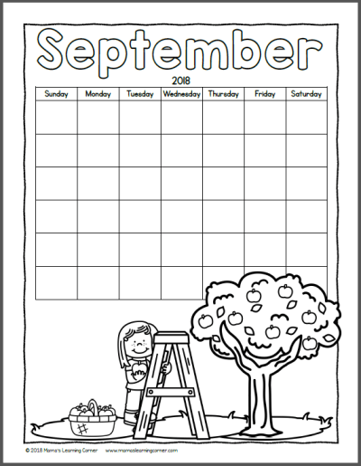 Color Your Own Calendar 2018