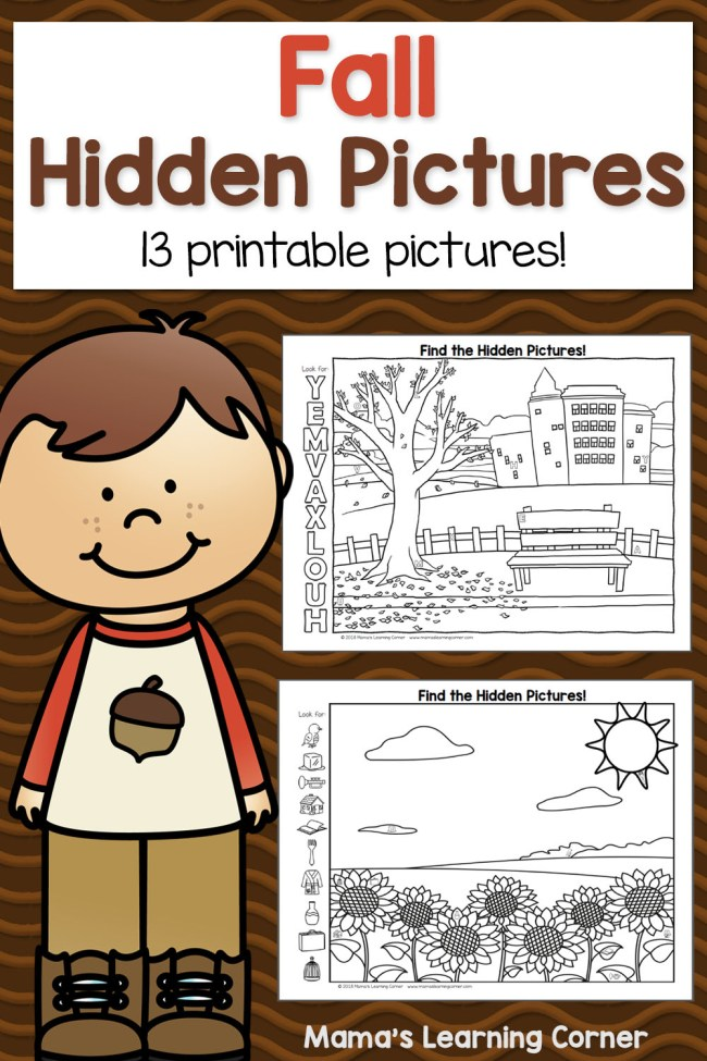 Fall Hidden Picture Worksheets Mamas Learning Corner