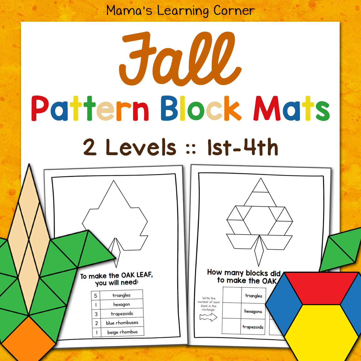 image about Printable Pattern Block named Free of charge Practice Block Printables - Mamas Mastering Corner