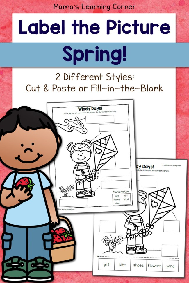 Spring Label the Picture Worksheets