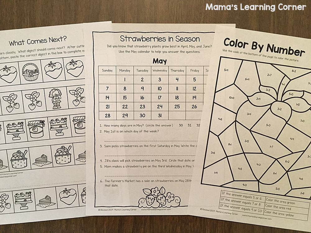 Strawberry Worksheets