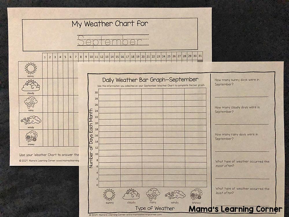 Calendar Notebook 2019 2020 Daily Weather Graph