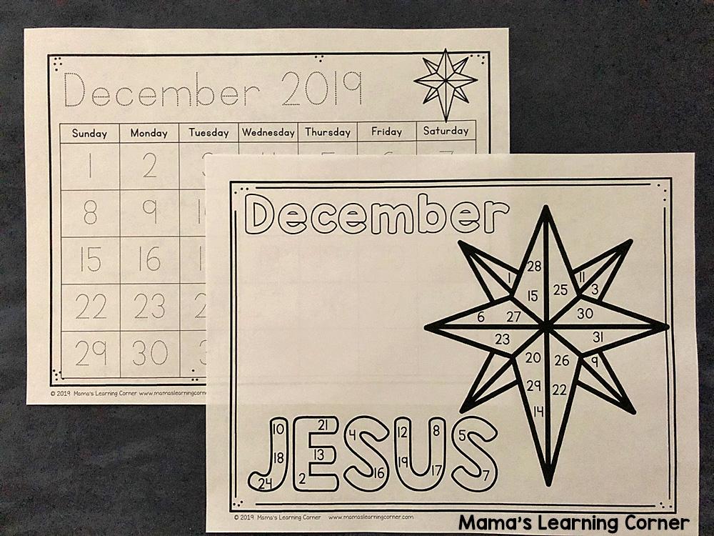 Calendar Notebook 2019 2020 December Christian Version