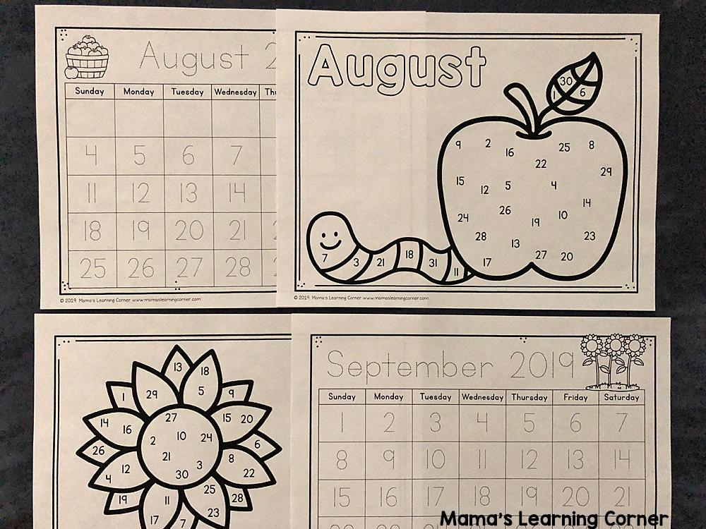 Calendar Notebook 2019 2020 Preschool Calendar