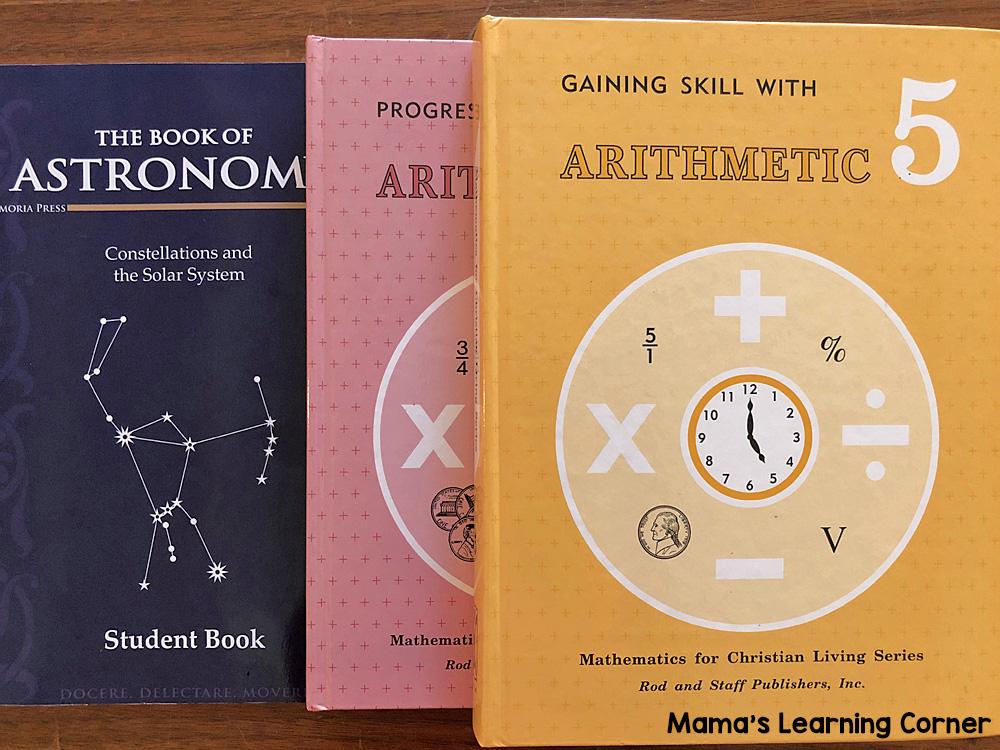5th Grade Homeschool Curriculum Math and Science
