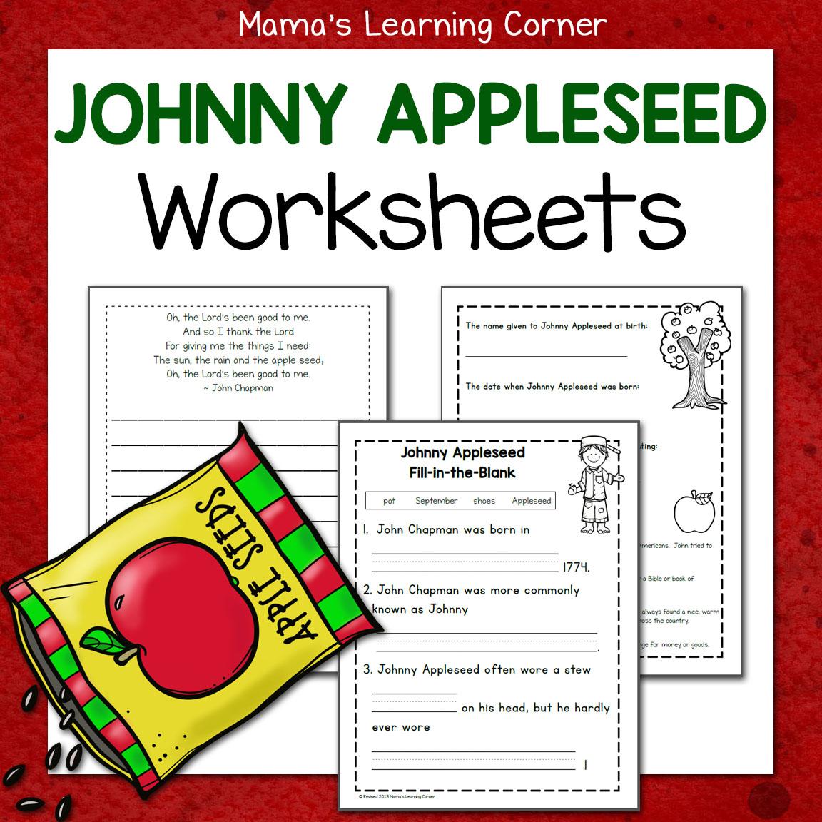 Worksheet Johnny Appleseed Printable