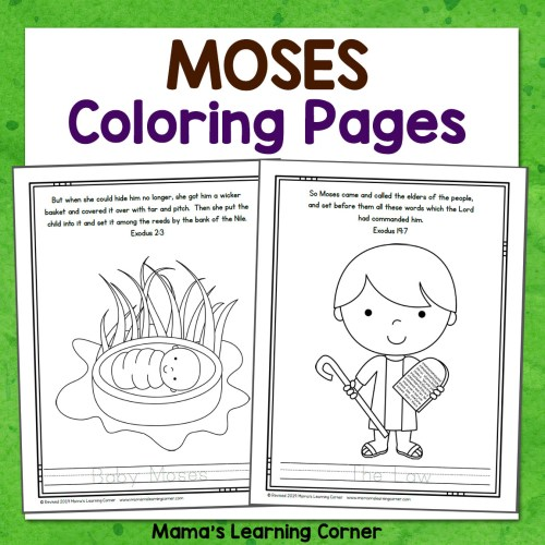 Moses Bible Coloring Pages