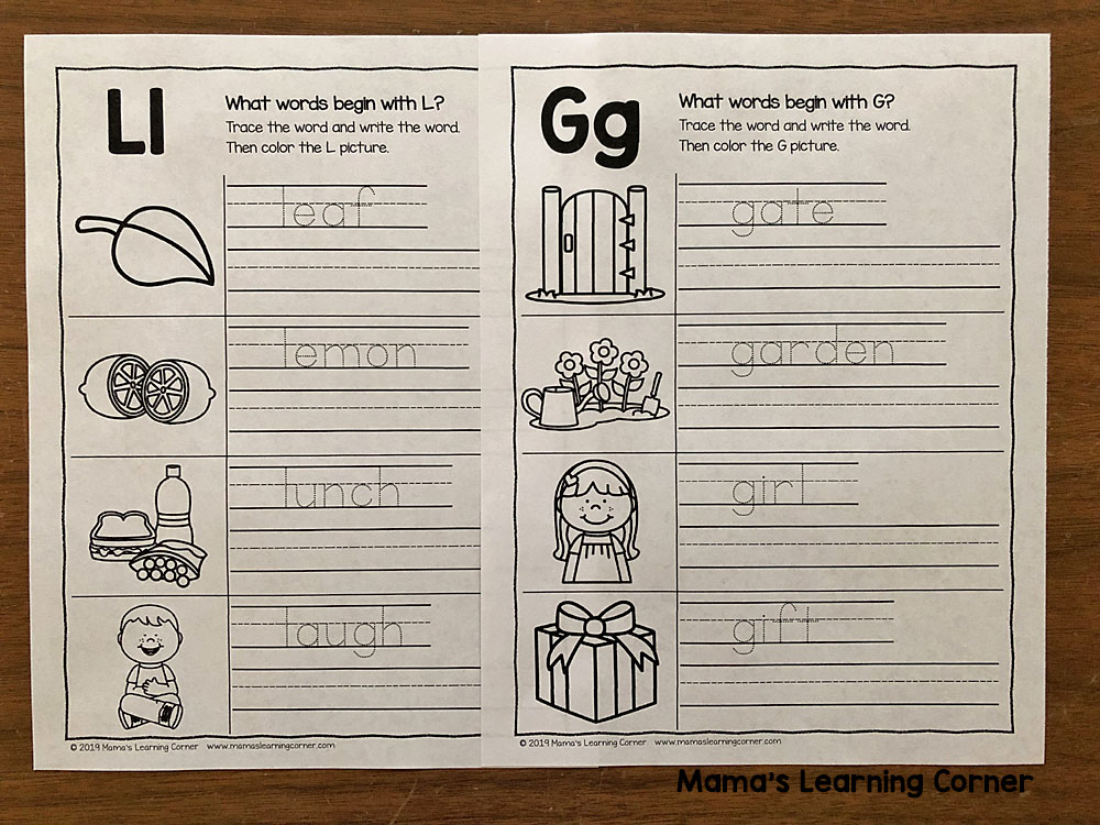 Alphabet Writing Practice Worksheets
