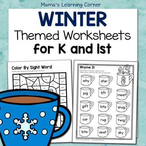 Winter Worksheets K and 1st
