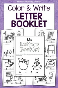 Color and Write Letter Booklets