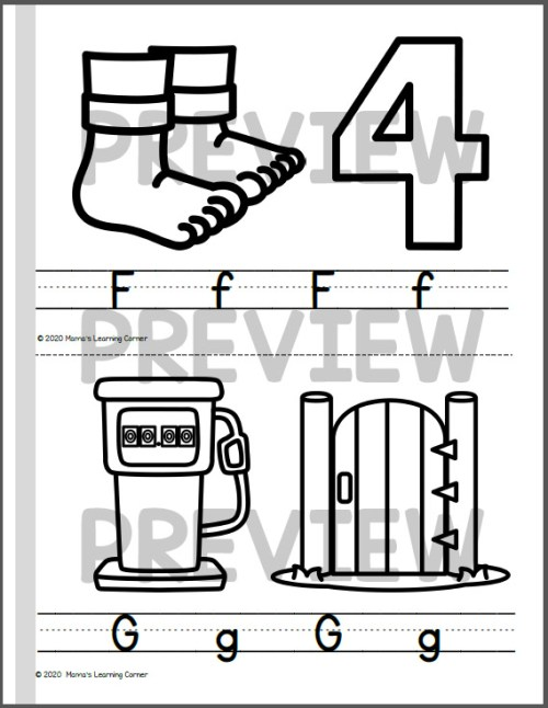 Color and Write Letter Booklet