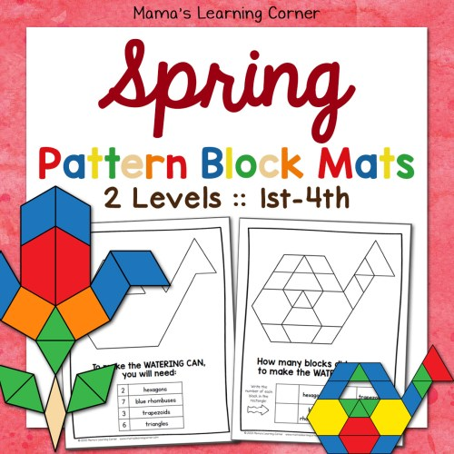 Spring Pattern Block Mats