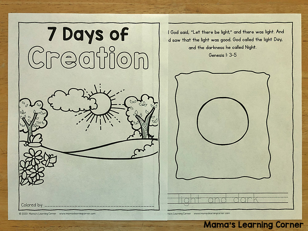 7 Days Of Creation Coloring Pages Mamas Learning Corner