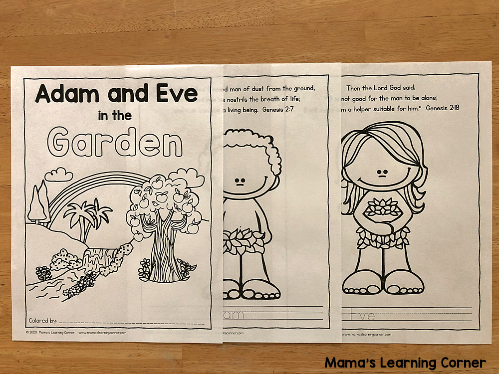 Adam and Eve Coloring Pages 1