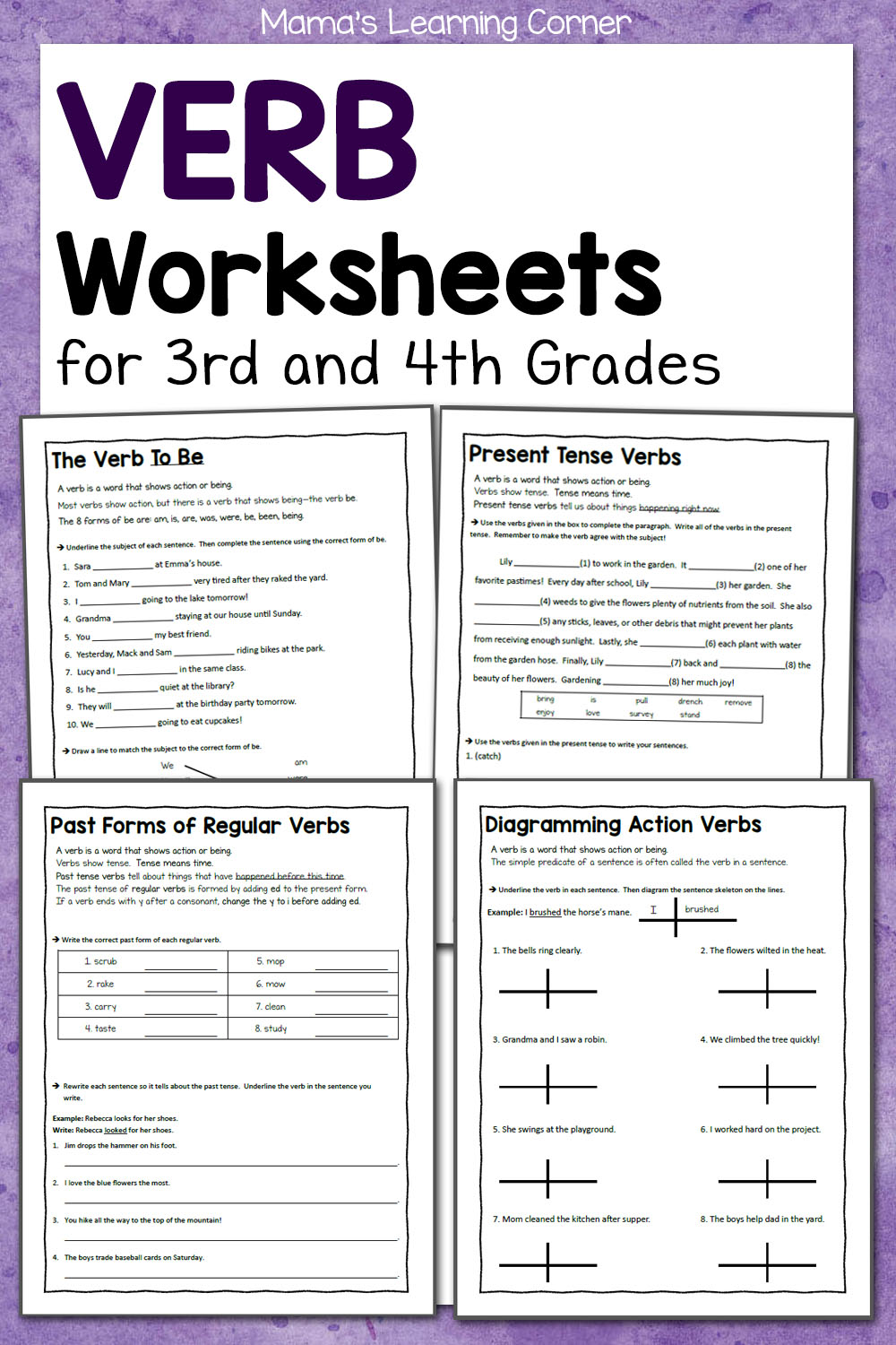 - Verb Worksheets For 3rd And 4th Grades - Mamas Learning Corner